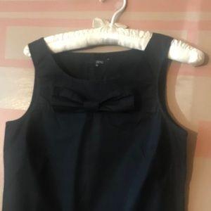 Tops - Cotton black sleeveless blouse
